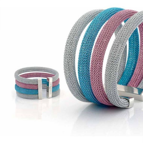 Aurora Multi Colour Mesh Cuff Bangle